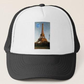 abstract eiffel tower trucker hat