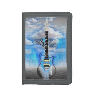 Abstract Electric Guitar Trifold Wallet