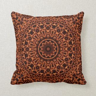 Abstract Electric Waves Mandala Design Cushion