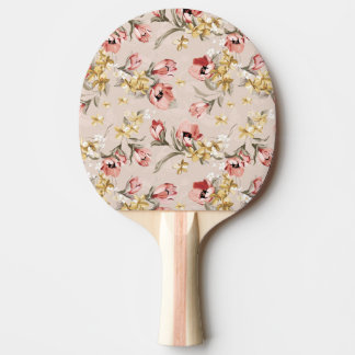 Abstract Elegance floral pattern 3 Ping Pong Paddle