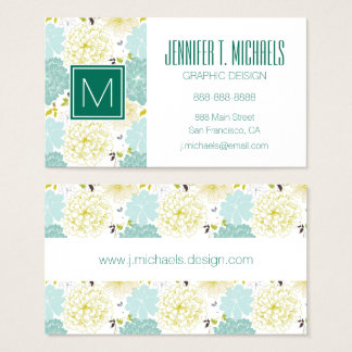 Abstract Elegance floral pattern Business Card