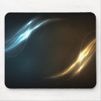 Abstract Elegant Energy Waves Mouse Pad