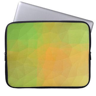 Abstract & Elegant Geo Designs - Cantalope Soft Laptop Sleeve