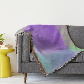 Abstract & Elegant Geo Designs - Iris Field Throw Blanket