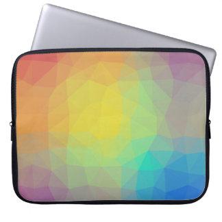 Abstract & Elegant Geo Designs - Seashell Vision Laptop Sleeve
