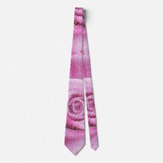 Abstract Elegant Pink Rose Mosaic Pattern Tie