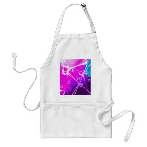 abstract embroidery aprons