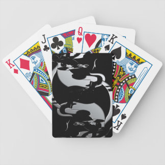 Abstract Equestrian Jumper Bicycle Playing Cards