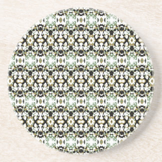Abstract Ethnic Camouflage Beverage Coaster
