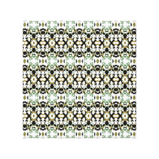 Abstract Ethnic Camouflage Canvas Print