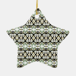Abstract Ethnic Camouflage Ceramic Ornament