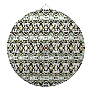 Abstract Ethnic Camouflage Dartboard