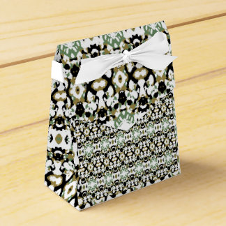 Abstract Ethnic Camouflage Favour Box