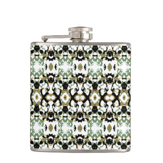 Abstract Ethnic Camouflage Hip Flask