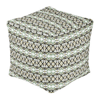 Abstract Ethnic Camouflage Pouf