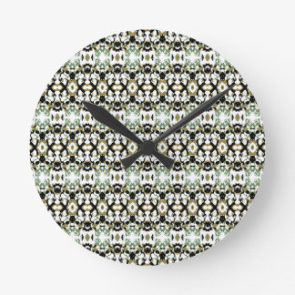 Abstract Ethnic Camouflage Round Clock