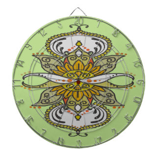 abstract ethnic flower dartboard