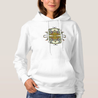 abstract ethnic flower hoodie