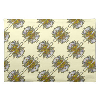 abstract ethnic flower placemat