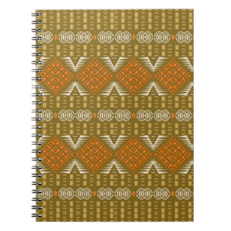 abstract ethnic golden  geometric pattern. notebook