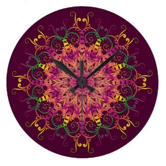 Abstract ethnic mandala. large clock