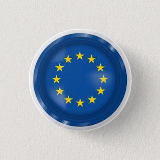 Abstract European Flag, Europe Button