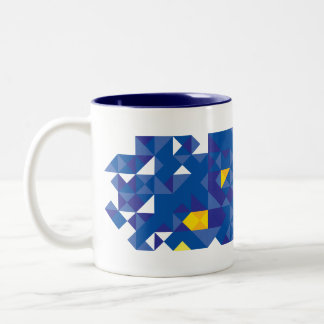 Abstract European Flag, Europe Poly Art Mug