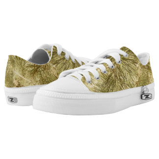 Abstract evergreen needles camouflage printed shoes