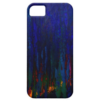 """""""Abstract Evergreens"""" Blue iPhone5 Case"""