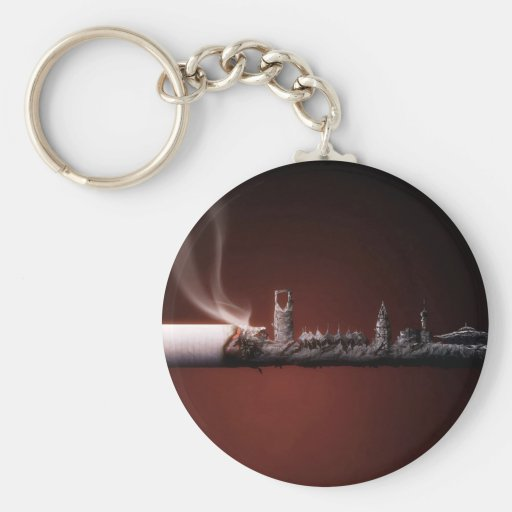 Abstract Everyday Building The Ashes Keychain