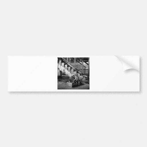 Abstract Everyday Car Engine Bumper Sticker