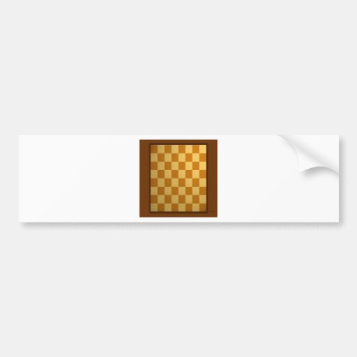 Abstract Everyday Chess Board Bumper Sticker