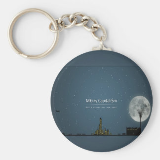 Abstract Everyday Night Time Capitalism Keychains