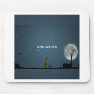 Abstract Everyday Night Time Capitalism Mouse Pad