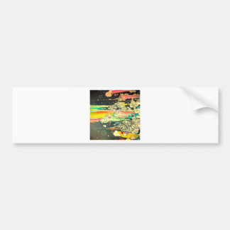 Abstract Everyday Splash Paint Bumper Stickers