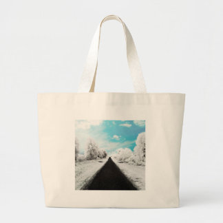 Abstract Everyday Winter Roads Canvas Bag