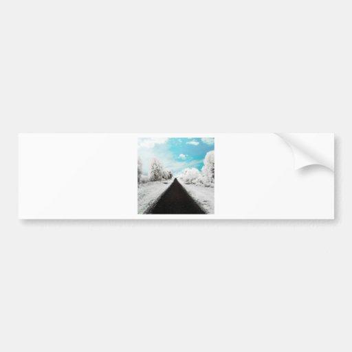 Abstract Everyday Winter Roads Bumper Sticker