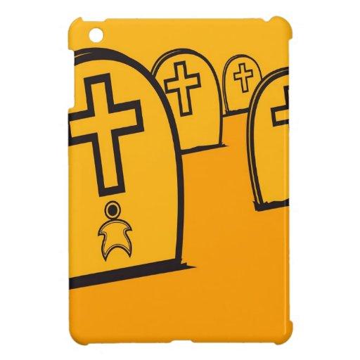 Abstract Everyday Yellow Grave Stones iPad Mini Covers