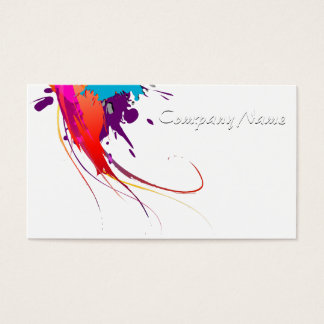 Abstract Exotic Butterfly Paint Splatters Business Card