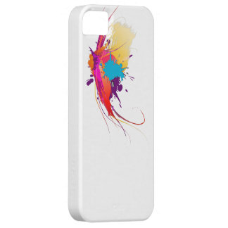 Abstract Exotic Butterfly Paint Splatters iPhone 5 Cover