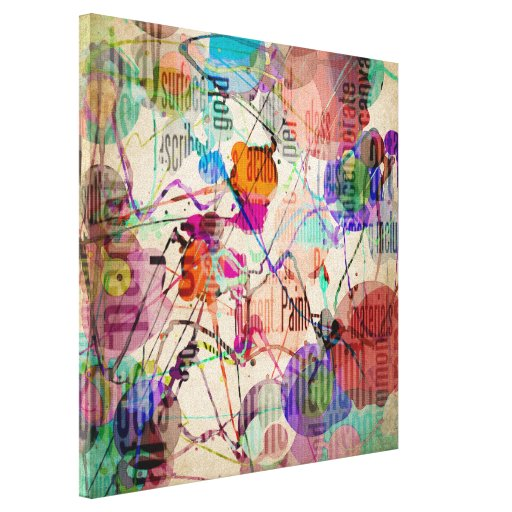 Abstract Expressionism 1 Stretched Canvas Print