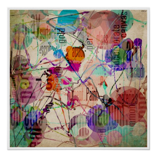 Abstract Expressionism 1 Print