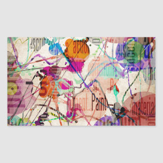 Abstract Expressionism 1 Rectangular Sticker