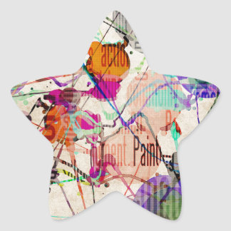 Abstract Expressionism 1 Star Sticker