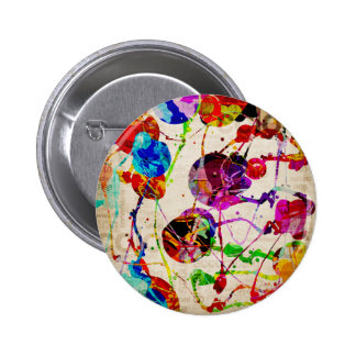 Abstract Expressionism 2 6 Cm Round Badge