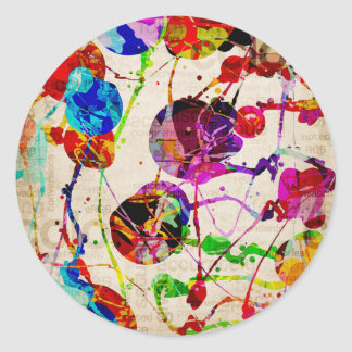 Abstract Expressionism 2 Classic Round Sticker