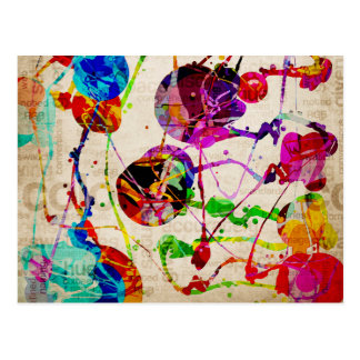 Abstract Expressionism 2 Postcard