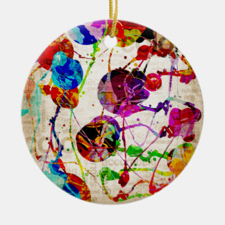 Abstract Expressionism 2 Round Ceramic Decoration