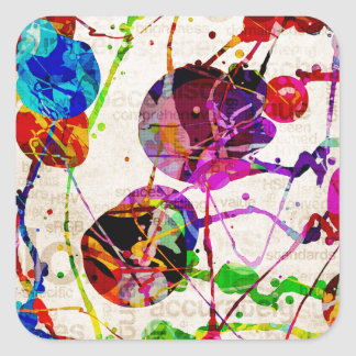 Abstract Expressionism 2 Square Sticker