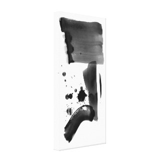 Abstract Expressionism Black White Gallery Wrap Canvas